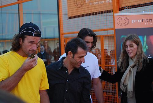 Evento inauguracion Rafa Nadal y Carlos moya