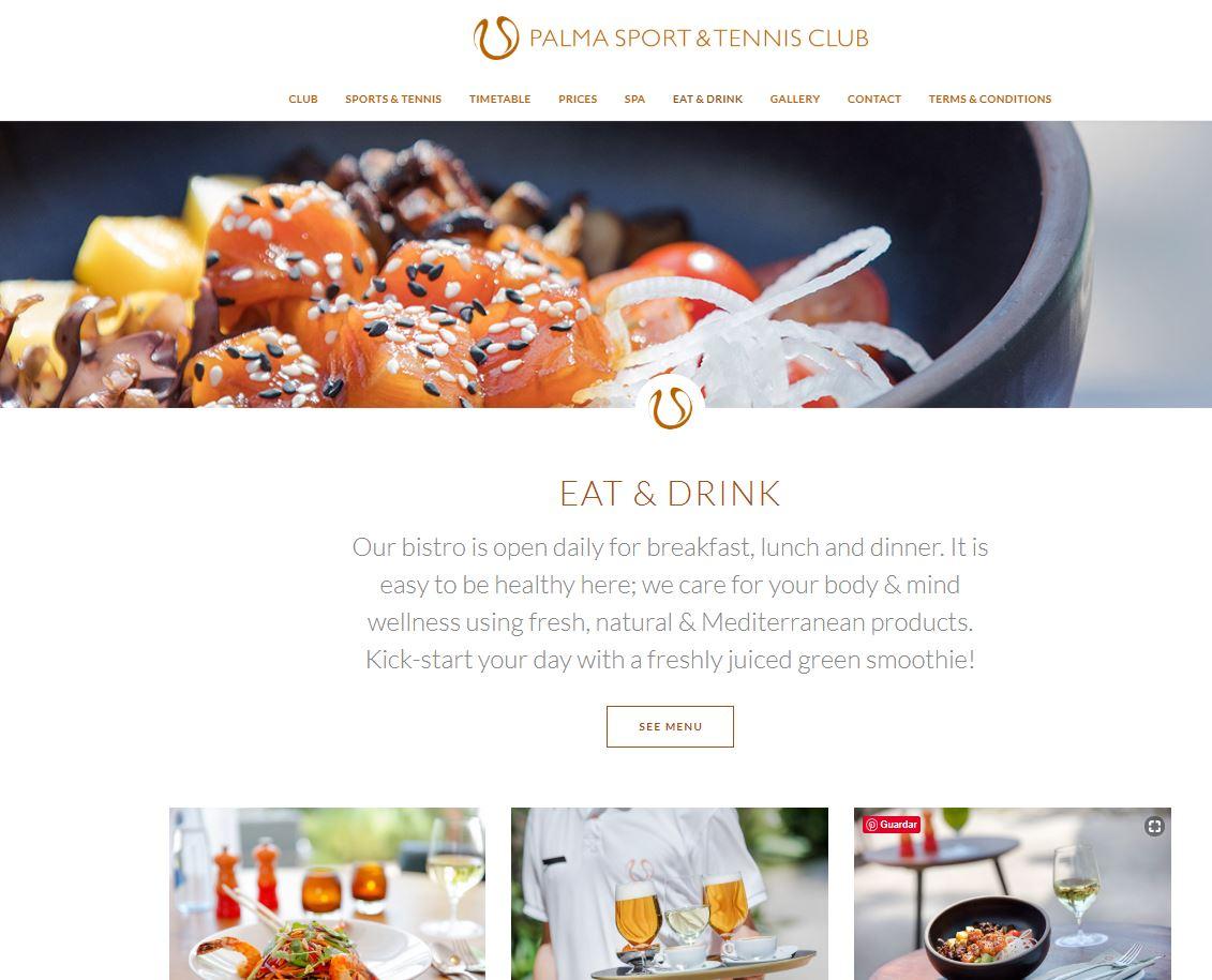 Diseño Web seccion gastronomia